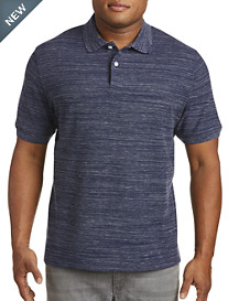 Harbor Bay® Space-Dye Piqué Polo