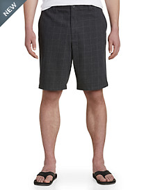 True Nation® Plaid Flat Front Shorts with Flex Waistband