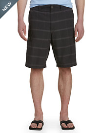 True Nation® Houndstooth Hidden Cargo-Pocket Shorts