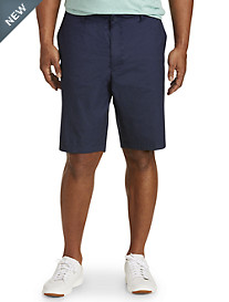 True Nation® Navy Neat Flat-Front Stretch Shorts