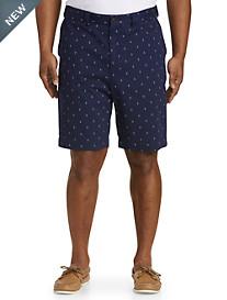 Oak Hill® Waist-Relaxer® Anchor-Print Shorts