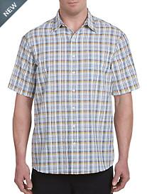 Harbor Bay® Large Plaid Seersucker Sport Shirt