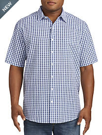 Harbor Bay® Small Plaid Seersucker Sport Shirt