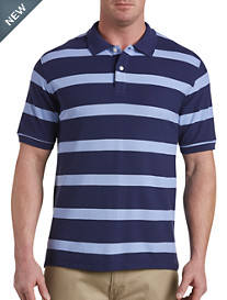Harbor Bay® Large-Stripe Rugby Polo