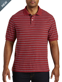 Harbor Bay® Small Bi-Color Stripe Polo