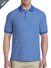 Harbor Bay® Small Stripe Polo-New and Improved Fit