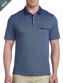 Harbor Bay® Jacquard-Print Polo-New and Improved Fit
