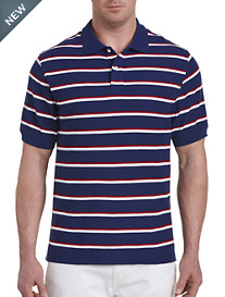 Harbor Bay® Large Bi-Color Stripe Polo-New and Improved Fit