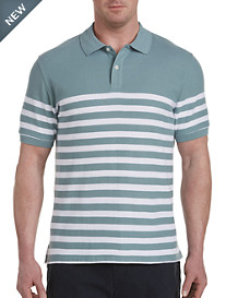 Harbor Bay® Placed Stripe Polo-New and Improved Fit