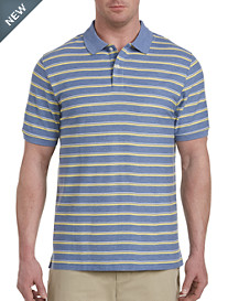 Harbor Bay® Medium Bi-Color Stripe Polo-New and Improved Fit
