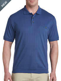 Harbor Bay® Banded Bottom Square-Patterned Polo-New and Improved Fit