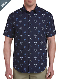 Synrgy™ Washed Palm Print Sport Shirt