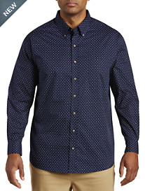 Harbor Bay® Easy-Care Double-Dash Print Sport Shirt