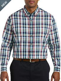 Harbor Bay® Easy-Care Large Multi Plaid Sport Shirt