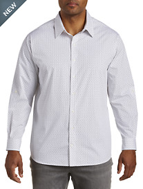 Synrgy™ Paisley Patterned Roll-Sleeve Sport Shirt