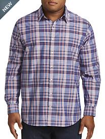 Synrgy™ Large Plaid Slub-Knit Sport Shirt
