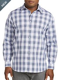 Synrgy™ Medium Plaid Slub-Knit Sport Shirt