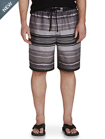 True Nation® Watercolor Stripe Swim Trunks