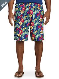 Island Passport® Bold Floral Print Swim Trunks