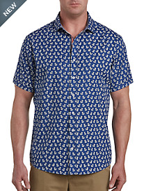 Synrgy™ Pineapple Print Sport Shirt