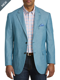 Oak Hill® Jacket-Relaxer™ Chambray Textured Sport Coat