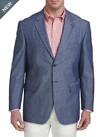 Oak Hill® Jacket-Relaxer™ Chambray Textured Sport Coat – Executive Cut