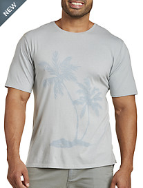 Garment-Washed Palm Print Tee