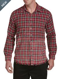 Destressed Flannel Shirt