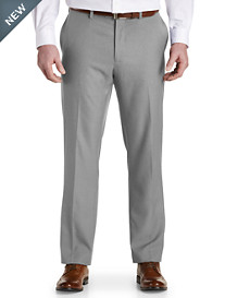 Gold Series Flat-Front Waist-Relaxer® Heathered Sorbtek Dress Pants