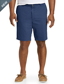 True Nation® Flat-Front Stretch Twill Shorts