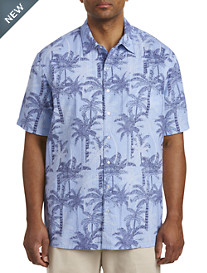 Harbor Bay® Palm Tree Seersucker Sport Shirt