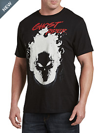 Ghost Rider Skulls and Flame Graphic Tee