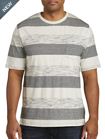 PX Clothing Textured Rugby Stripe Tee