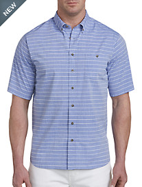 PX Clothing Chambray Stripe Sport Shirt