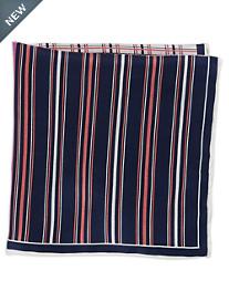 Rochester Stripe Grid Multi Silk Pocket Square