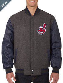 MLB Reversible Leather and Wool Jacket