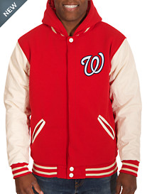 MLB Reversible Faux-Leather Hooded Jacket