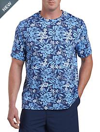 Harbor Bay® Tropical Floral Print No-Pocket Tee