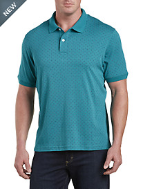 Harbor Bay® Diamond-Pattern Interlock Polo