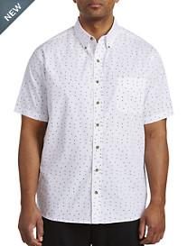 Harbor Bay® Easy-Care Dot Print Sport Shirt