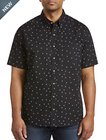 Harbor Bay® Easy-Care Geometric Print Sport Shirt