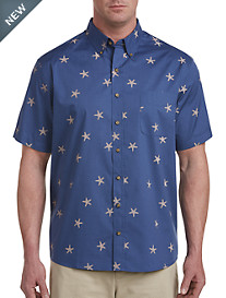 Harbor Bay® Easy-Care Starfish Print Sport Shirt