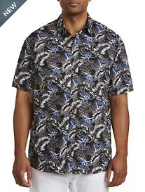 Harbor Bay® Floral Leaf Print Sport Shirt