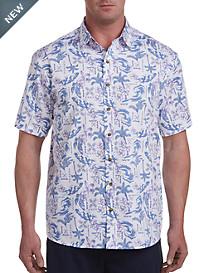 Harbor Bay® Surf Print Sport Shirt