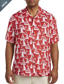 Island Passport® Sailboat Print Camp Shirt