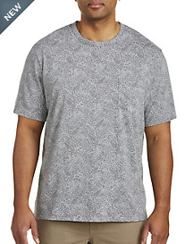 Harbor Bay® Tropical Leaf Pocket Tee-New and Improved Fit