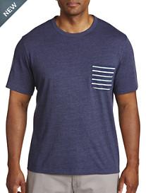 Harbor Bay® Contrast Stripe Pocket Tee-New & Improved Fit