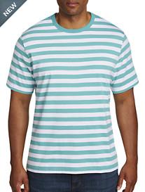 Harbor Bay® Wide-Stripe No-Pocket Tee-New & Improved Fit