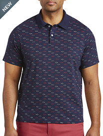 Harbor Bay® Shark Print Polo-New and Improved Fit