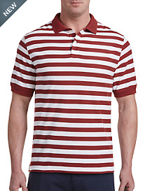 Harbor Bay® Medium Stripe Polo-New and Improved Fit